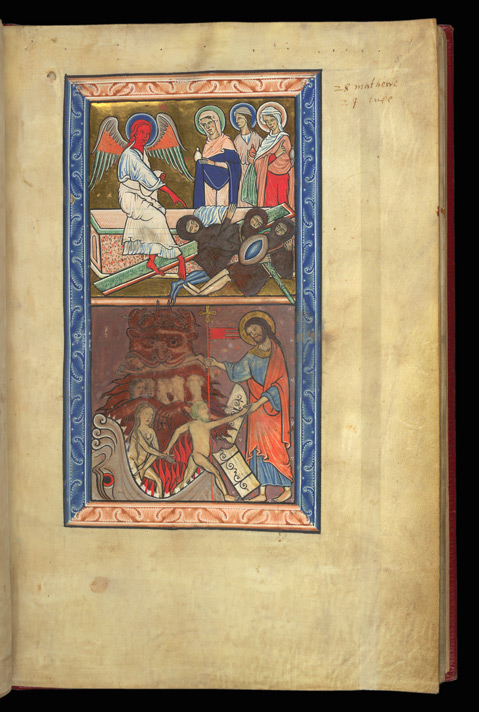 The Holy Women At The Sepulchre, And The Harrowing Of Hell, In A Psalter Preceded By Miniatures And A Calendar